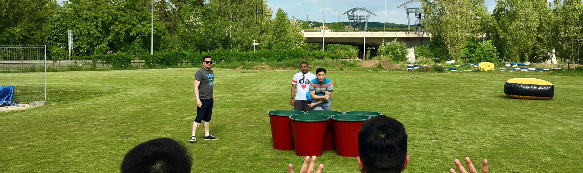 Giant Beer Pong in Prague | Pissup Stag Dos | Since 2001