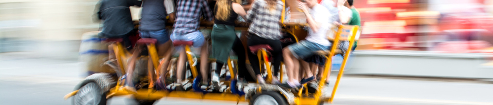 Beer bike blur